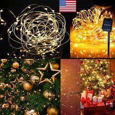 150 Brilliant LED lights - 150 Super Bright LED bulbs on high quality copper wire, with steady 360 degree viewing angle they illuminate in every direction. Outdoor Fairy Lights, Christmas Wreaths, Christmas Tree, Copper Wire, Light Decorations, String Lights, Solar Power, Garden Ideas, Bulb