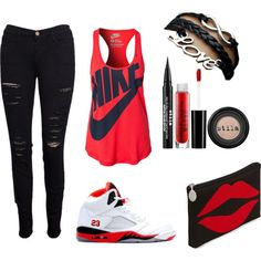 """""""Out and About"""" by gabbymichelle on Polyvore cheap air jordan 5 only $60, save up to 59% off for all #Nikes #Shoes"""