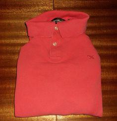 Men's Eddie Bauer PINK Polo Shirt ~ MEDIUM #EddieBauer #PoloRugby