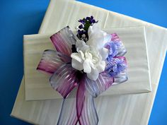 All occasion gift bow in pretty pastels GN17 by jandavis2 on Etsy, $8.00