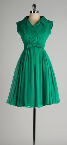 Love the colour of this vintage 1960s dress . EMMA DOMB . emerald by millstreetvintage