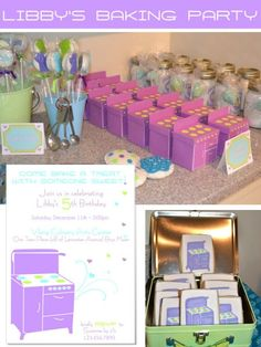 baking birthday party   baking party favor box   Birthday Party Ideas