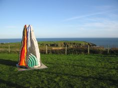 Ice, Fire and Water sculpture celebrating the earth history and geological heritage of the Copper Coast Geopark