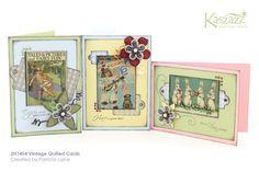 2H1454 Vintage Quilled Cards