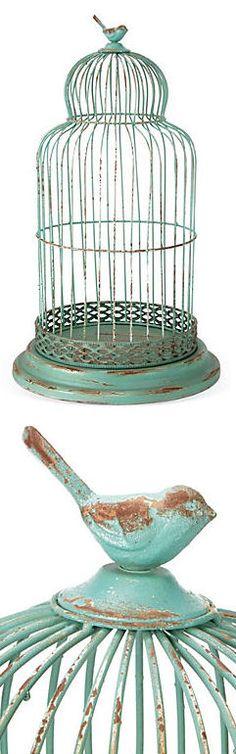 Shabby Chic Bird Cage <3 L.O.V.E.