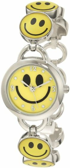 SMILEY WATCH: Frenzy Kids' FR279 Smiley Face Novelty Analog Bracelet Watch: Watches: Amazon.com