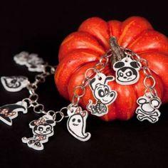 Icky Disney Halloween shrink charms  Add them to bracelets or attach them to zipper pulls.