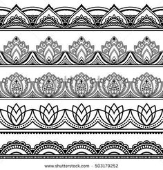 mehndi style borders