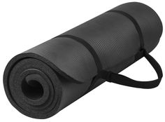 Yoga Mat. This Black GoYoga All-purpose, Extra Thick, High Density, Anti-tear, Non-Slip, Portable Pad, Best For Outdoor and Indoor Exercise Accessorie. Light Weight and Easy Travel With Carrying Strap. ^^ Startling review available here  : Pilates
