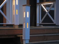 Entrance with lights. The lighting creates feeling of security, splendor, beaty, comfort, hope. Wooden Lamp, Terrace, Entrance, Lamps, Patio, Lights, Outdoor, Design, Bulbs