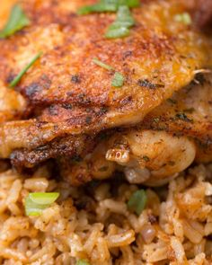 "Paprika Chicken And Rice Bake Saute' chicken and set Instant Pot for ""rice""."