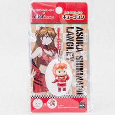 Evangelion Asuka Langley EVA Racing Rose O'neill Kewpie Kewsion Strap JAPAN
