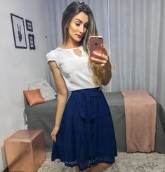 Long Skirt Outfits, Midi Skirt Outfit, Girly Outfits, Modest Outfits, Casual Dresses, Casual Outfits, Cute Outfits, Fashion Wear, Cute Fashion