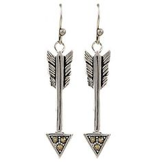 Montana Silversmiths Sparks Will Fly True Arrow Earrings ($1.26) ❤ liked on Polyvore featuring jewelry, earrings, sparkle jewelry, earrings jewelry and sparkly earrings