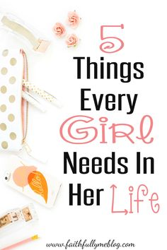 I meant to write this post for a while now, 5 things every GIRL needs in her life, let's just say motherhood got in the way the last few days; how ironic.