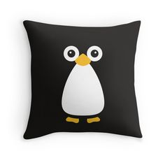 'Cute Vector Penguin' Throw Pillow by ChunkyDesign Cute Pillows, Diy Pillows, Throw Pillows, Diy Cushion Covers, Pillow Covers, Diy Arts And Crafts, Felt Crafts, Homemade Blankets, Pillow Crafts