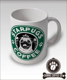 Pug Mug  Starpugs Coffee Mug  FREE SHIP USA  Uk by CanineCoffeeCo