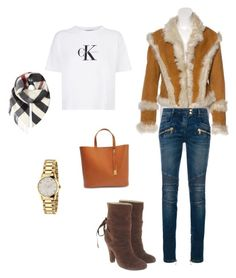 """""""Sin título #17"""" by sil-mena on Polyvore featuring moda, Anna Sui, Balmain, Calvin Klein Jeans, Marc Jacobs, Sophie Hulme, Burberry y Gucci"""