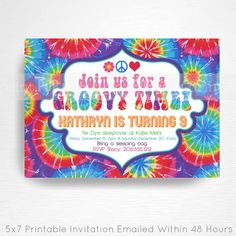Download now free template tie dye birthday party invitations baby download now free template tie dye birthday party invitations baby shower invitation ideas pinterest party invitations and birthdays filmwisefo