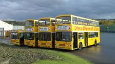https://flic.kr/p/8P2BNb | 20101029_013 | Training buses at the back of Longstone Garage on 29/10/10.