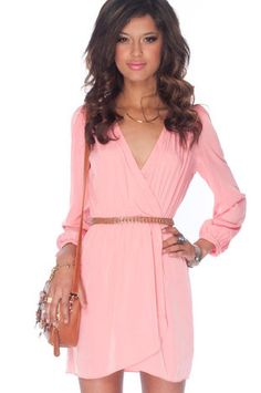 It's a Wrap Dress in Pink $36 at www.tobi.com