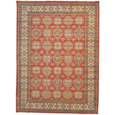 Kazakh Oversize 100-percent Handmade Rug