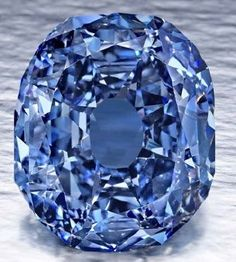 """The Wittelsbach-Graff diamond. According to the Gemological Institute of America, the carat diamond """"… is the largest Flawless or Internally flawless, Fancy Deep Blue, Natural Color we have graded to date…"""" Minerals And Gemstones, Crystals Minerals, Rocks And Minerals, Stones And Crystals, Gem Stones, Most Expensive Jewelry, Bling, Rocks And Gems, Gems Jewelry"""