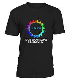 Total solar eclipse Nebraska is coming on 21 August 2017. Get ready for it with your solar eclipse glasses and this awesome Total solar Eclipse Nebraska shirt 2017.Perfect total solar eclipse 2017 shirt for astronomers, eclipse fans, friends and family .   Wear this COLORFUL Total solar eclipse 2017 shirt while the moon passes between the sun and the earth. Total solar eclipse of the sun shirt. This solar eclipse shirt is perfect gift for eclipse day. Unique total solar eclipse USA Augus...