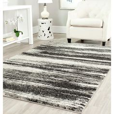 Safavieh Deco Inspired Dark Grey/ Light Grey Rug (8' x 10') - Overstock Shopping - Great Deals on Safavieh 7x9 - 10x14 Rugs