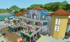 The Sims 3, house building - Blue Secret Island Resort