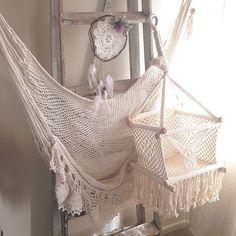 Handmade Baby Swing Organic Off-White Cotton Indoor/Outdoor