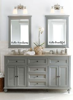 His and Hers. Hello Beautiful. Hello by 1LittleYellowHouse on Etsy