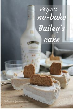 Vegan no-bake Bailey's cake with date caramel