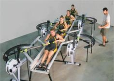 Sweep Rowing Erg; I tried this at the 2012 Hooch and it was incredible! I would've loved to have used these instead of regular ergs!