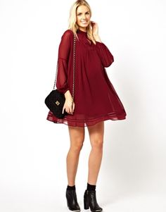 Enlarge ASOS Maternity Swing Dress with Trim