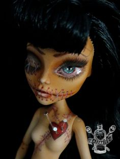 monster high repaint custom ooak doll stitches horror by Saijanide