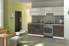 Szürke magasfényű konyhabútor