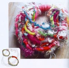 How to make a yarn necklace from the book #Intertwined #pluckyfluff