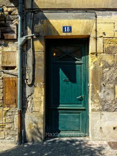 Old Teal Door Photo  Fine Art Travel Photography by Maximonstertje, $30.00