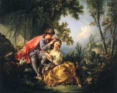 Francois Boucher, one of my favs.  I've seen this at the Frick -- it's a series of the Four Seasons, and this is Spring.  Perfect for today!