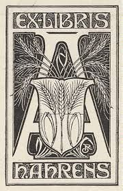 #Ex-líbris de Ahrens von Oskar Roick, ilustrador e artista gráfico alemão. Desenhado pelo próprio