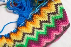 knit Chevron pattern inspired by Missoni