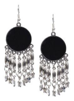 bad4bea29 Stars Designer Hanging Black German Silver Jhumkas Product code: JUJA90J196 Retail  price: 317/