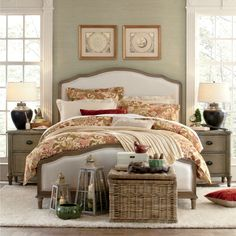 Get inspired by Cottage/Country Bedroom Design photo by Birch Lane. Wayfair lets you find the designer products in the photo and get ideas from thousands of other Cottage/Country Bedroom Design photos. Country Bedroom Design, French Country Bedrooms, Bedroom Images, Bedroom Photos, Bedroom Furniture, Home Furniture, Bedroom Decor, Bedroom Ideas, Calm Bedroom