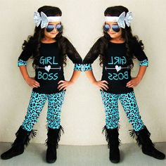 8185bcc178 Pretty 2pc set comes with leopard pants and black graphic t-shirt with cuff  detail