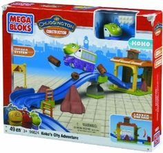 Chuggington Go Koko Go by Mega Bloks Inc. $31.99. Cool launcher so you can help Koko get to her destination ultra fast. Hours of fun on its own or with other Mega Bloks Chuggington building sets!. Includes 8-part Buildable Koko with mouth-movement for lots of role-play fun. Lots of tracks to customize Koko?s adventure and exclusive show-themed accessories!. 2-in-1 Build and Rebuild possibilities. From the Manufacturer                96624U - Mega Bloks – Chuggington - Go Kok...
