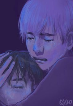 "Yoonmin fan art by Qilko.  Her caption for the art via Tumblr:  ""Jimin..  I'm sorry..  .. I'm sorry..""    THIS IS NOT OKAY."