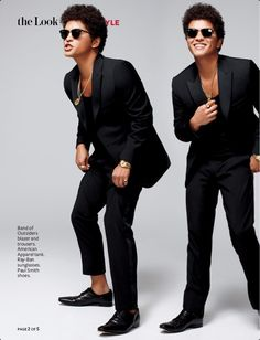 Bruno Mars wearing Band of Outsiders blazer & trousers: Man of Style ~ Instyle magazine, February 2013.