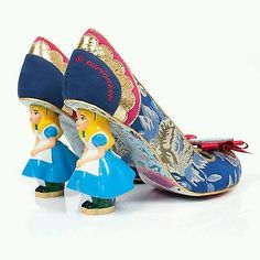 c5827be0acf8 BNIB Irregular Choice - Alice in Wonderland Disney Curious Feeling Heels UK  5