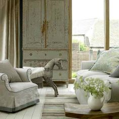 Rustic living room | housetohome.co.uk - want a rocking horse, it is on my husband's list!!!